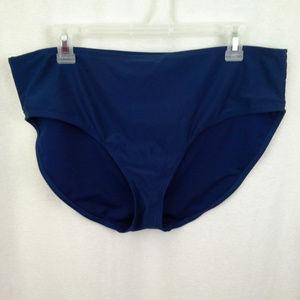 Basic Editions womens swimsuit bottom Size 14 Navy